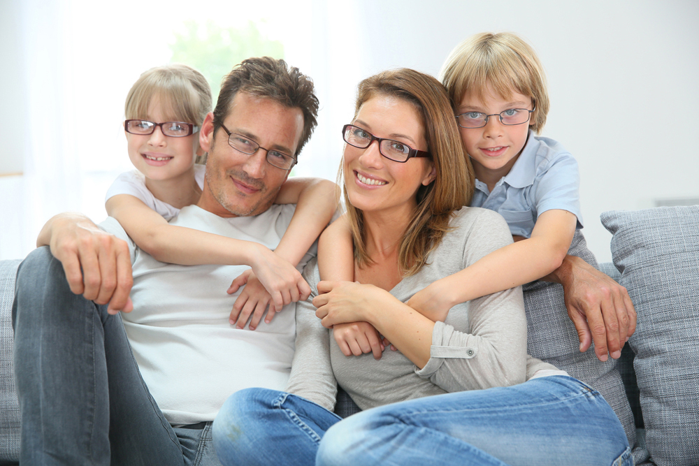 family is happy with their eye exam in Stratford and Bridgeport